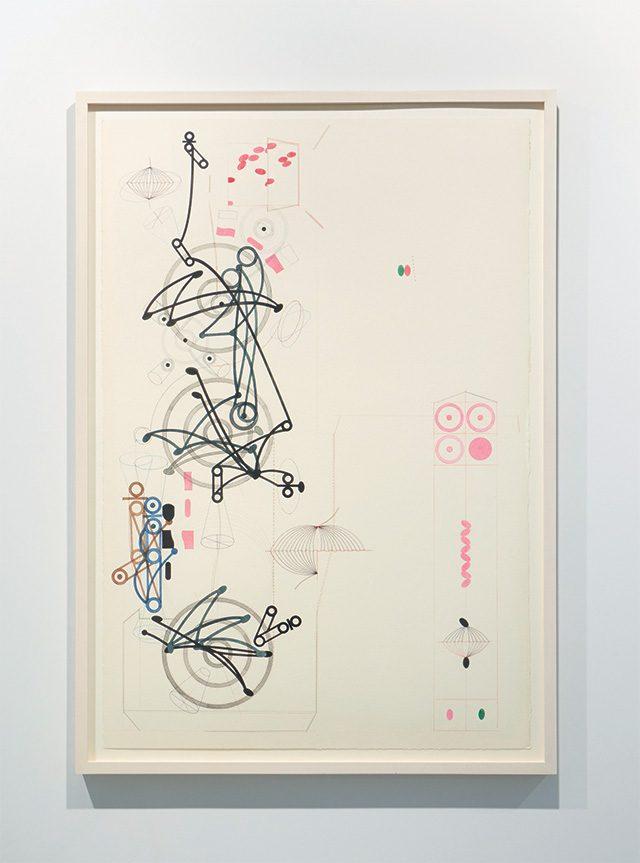 이상남, 'Polygon E', 1993, Watercolor and colored pencil on paper, 102×69.5cm