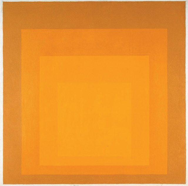 요세프 알버스(Josef Albers), 'Study for Homage to the Square Departing in Yellow', (1964) ©The Joseph and Annie Albers Foundation/VG Bild-Kunst, Bonn and DACS, London, 2017 License this image