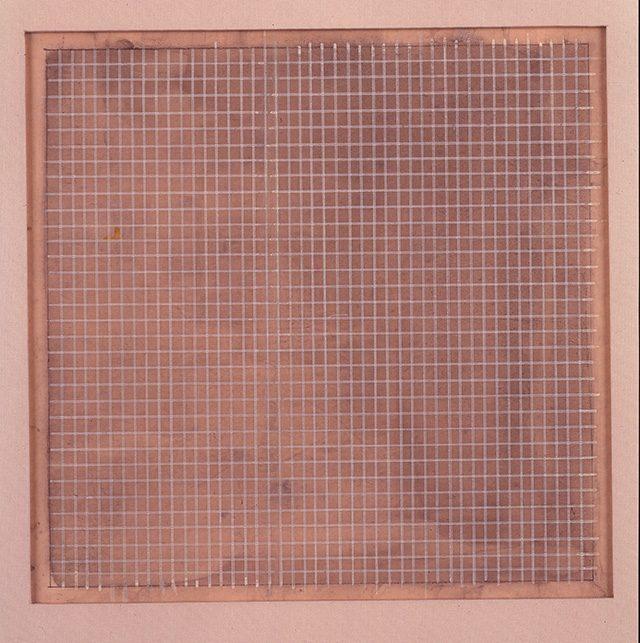 아그네스 마틴, 'Untitled', 1964, Grey wash and white ink on paper, 22.54 x 22.86 cm, The Museum of Contemporary Art, Los Angeles, The Barry Lowen Collection