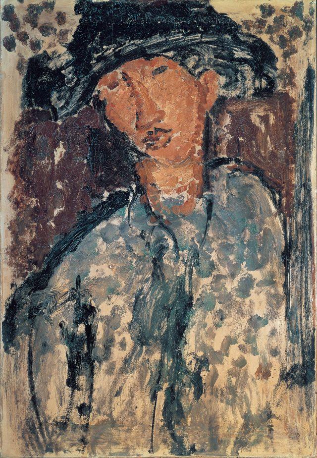 아마데오 모딜리아니, '샤임 수틴의 초상(Portrait de Chaïm Soutine)', 1917, 패널에 유채, 79×54 cm, ©droit réservé