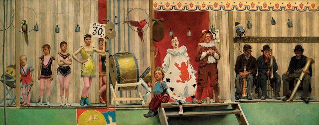 페르낭 플리(Fernand Pelez), '찌푸린 얼굴과 불행: 곡예사들 (Grimaces et Misères: les Saltimbanques)', 1887-1888, 캔버스에 유채, 114.6×292.7cm ©droit réservés