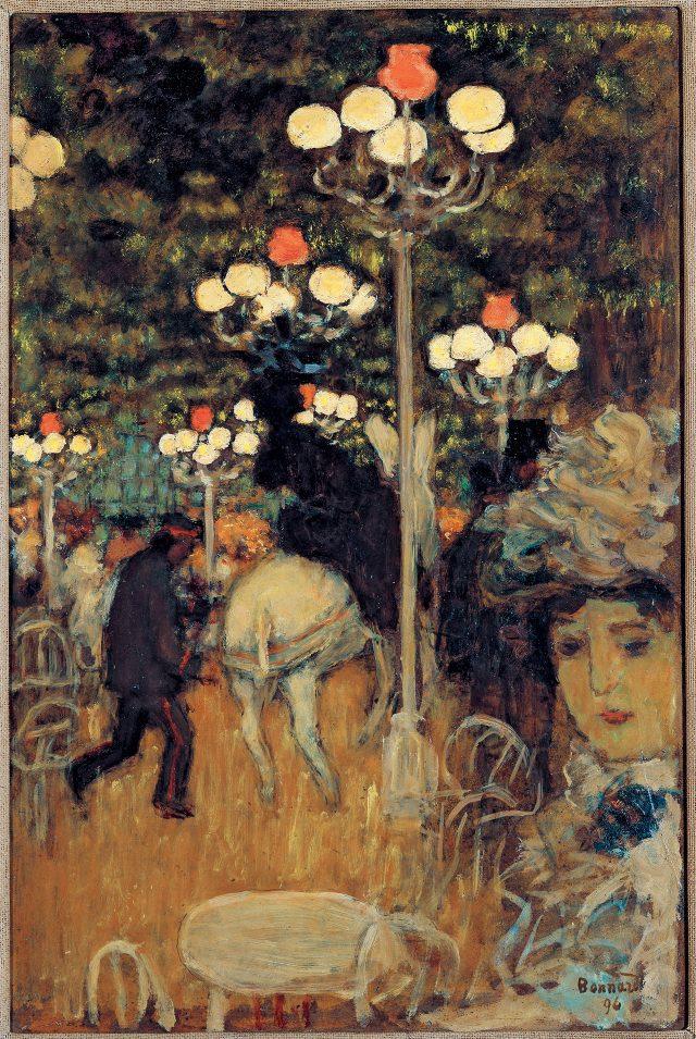 피에르 보나르(Pierre Bonnard), '숲속 카페/ 파리의 정원(Cafédans le Bois/ Jardin de Paris)', 1896, 캔버스에 유채, 40×33cm, ©ADAGP, Paris