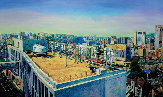 'Anotherday-어디로', 2016-17, 캔버스에 유채, 162.2×97cm