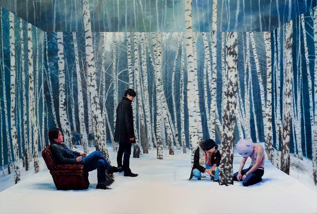 '너무 늦은 건가...', 2015, 캔버스에 유채, 193.9×130.3cm