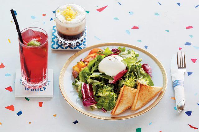 울프의 시그너처 메뉴인 부라타 치즈 샐러드와 버터 크림 헤븐