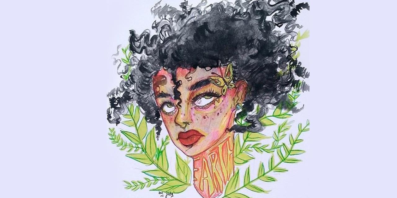 윌 스미스의 딸 윌로우 스미스. 전세계 신인 아티스트들이 그녀의 얼굴을 오마주했다.