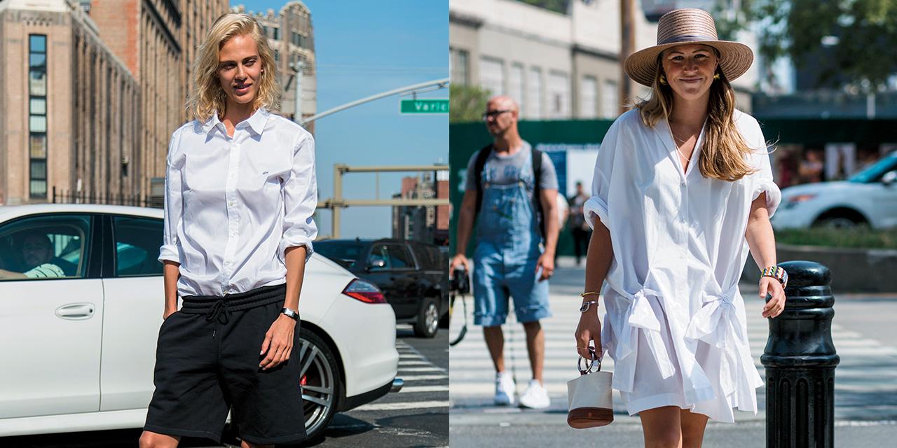 화이트 셔츠 vs 화이트 셔츠 드레스. 당신이 시도하고 싶은 데일리 룩 스타일은?