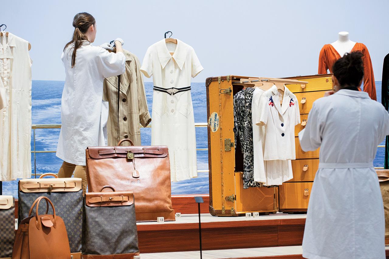 요트와 크루즈 여행, 그리고 스티머 백의 등장을 보여주는 '여행의 발명' 룸