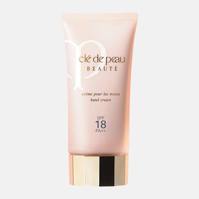 Cle  de Peau Beaute 크렘므 뿌르 레멩 SPF18/ PA+++보습과 자외선 차단, 안티에이징 효과까지 갖춘 핸드크림. 75ml, 9만8천원.