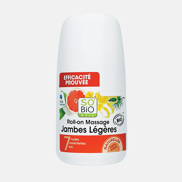 So Bio by Ontree마사지 롤온 라이트 래그 혈액순환을 도와주는 자몽, 레몬, 페퍼민트 등 7가지 에센셜 오일이 지친 다리의 피로를 다독이고 부기를 완화시켜준다. 40ml, 2만5천원.