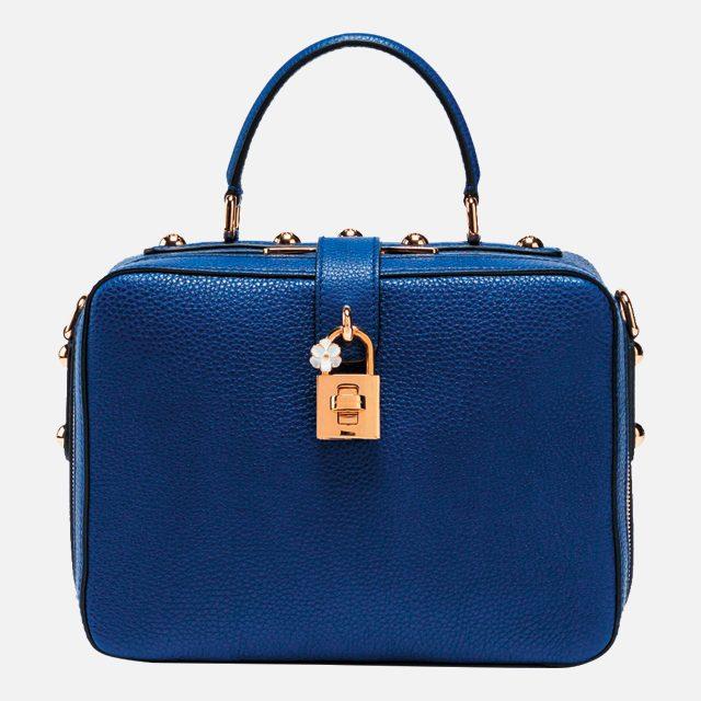 꽃잎이 더해진 자물쇠 디테일의 박스 백은 3백만원대로 Dolce & Gabbana