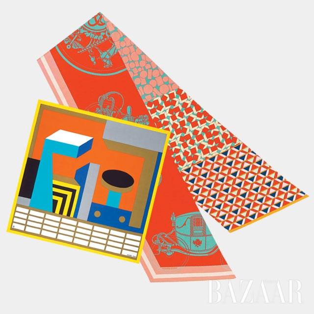 에르메스의 다채로운 컬러 스카프들