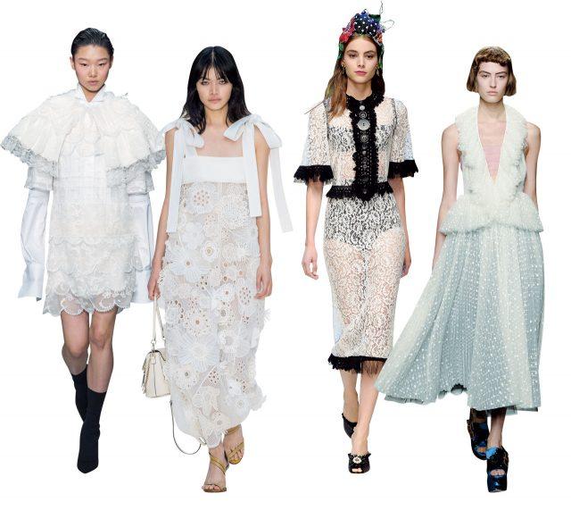 Burberry / Chloé / Dolce & Gabbana / Rochas