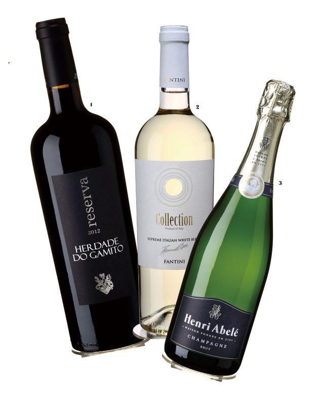 1. 트로피 레드를 받은 포르투갈의 'Herdade Do Gamito Reserva' 2. 트로피 화이트를 받은 이탈리아의 'Farnese Vini Collection Supreme Italian White Blend 2016' 3. 트로피 스파클링을 차지한 프랑스의 'Henri Abele Champagne Henri Abele Brut'
