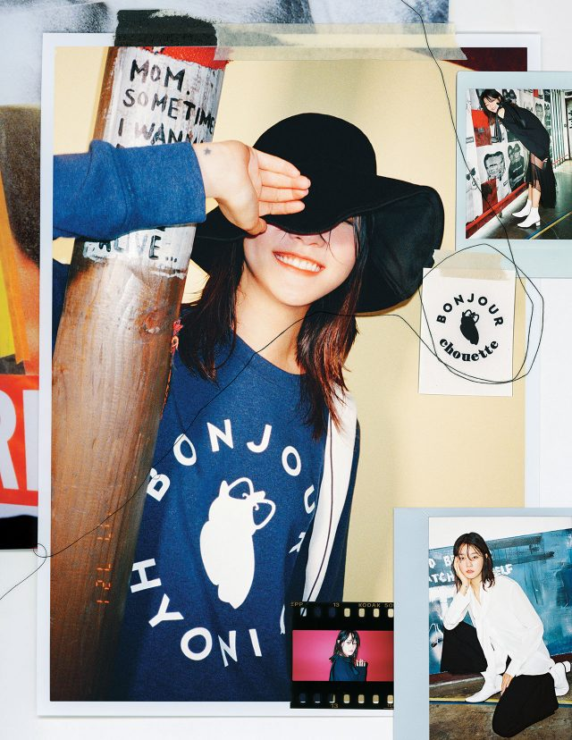 럭키 슈에뜨와 컬래버레이션한 봉쥬르 슈에뜨 컬렉션의 캠페인