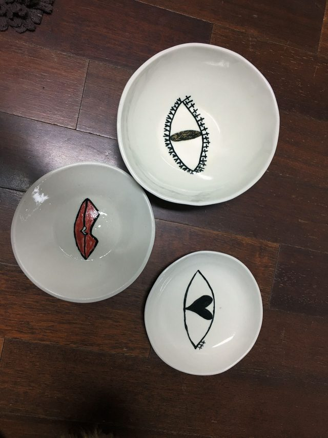 도예 작업을 하며 만든 접시들