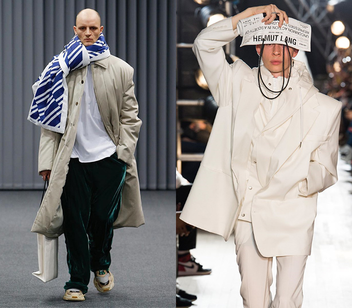 2017 F/W Balenciaga Collection, 2018 S/S Helmut Lang Collection