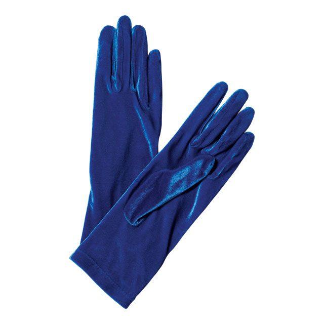 광택감이 돋보이는 비비드한 블루 컬러 장갑은 가격 미정으로 Balenciaga