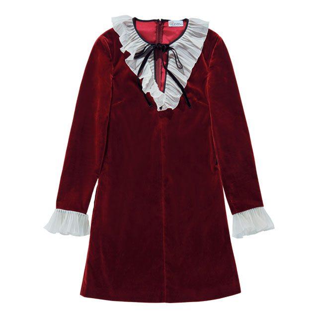 리본과 플리츠 칼라 디테일의 드레스는 65만2천원대로 Red Valentino by Metchesfashion.com