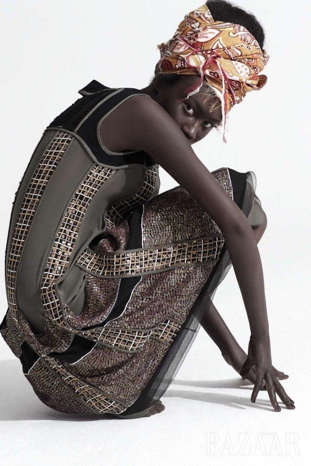에스닉 아프리카, 사파리. 2008 S/S 시즌의 드레스.모델/ 배유진 헤어/ 권영은 메이크업/ 이자원