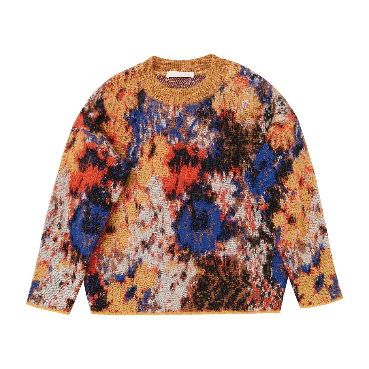 빈티지한 플라워 패턴의 모헤어 스웨터는 가격 미정으로 Vanessabruno