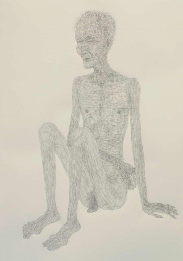 '노인의 몸', 종이에 아크릴릭,112×76cm, 2013,Courtesy of the artist and Kukje Gallery 이미지 제공: 국제 갤러리