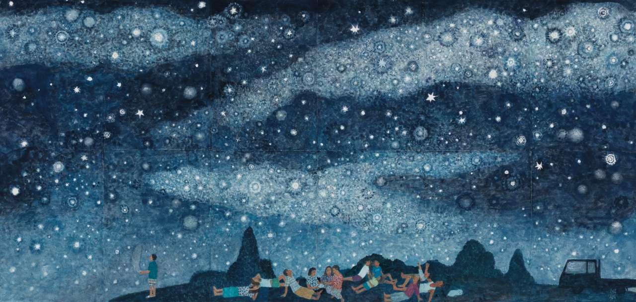 '별이 빛나는 밤에',종이에 과슈,60.5×126cm, 2016,Courtesy of the artist and Kukje Gallery 이미지 제공: 국제 갤러리