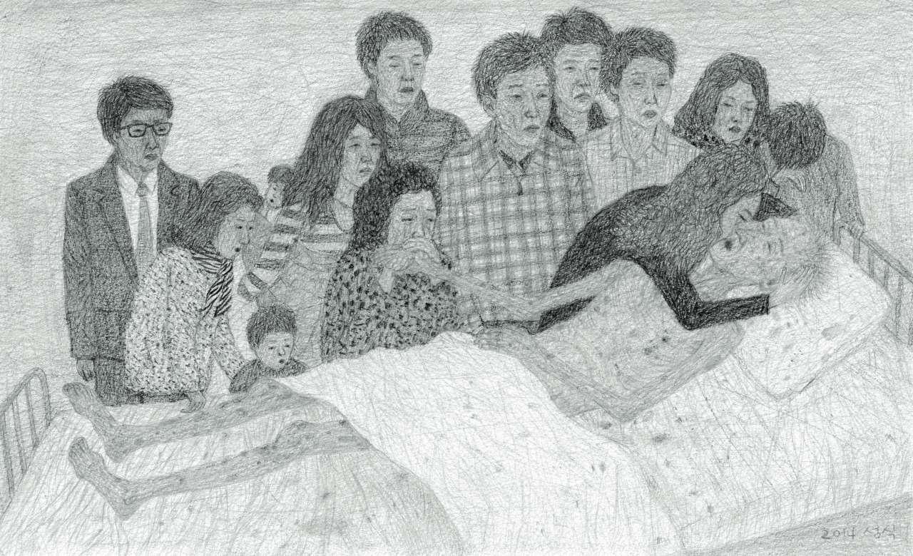 '작별', 종이에 연필,22.7×37cm, 2014,Courtesy of the artist and Kukje Gallery 이미지 제공: 국제 갤러리