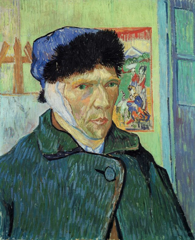 빈센트 반 고흐, 'Self-Portrait with Bandaged Ear', 1889, Oil on canvas, 60×49cm, Courtauld Galleries, London