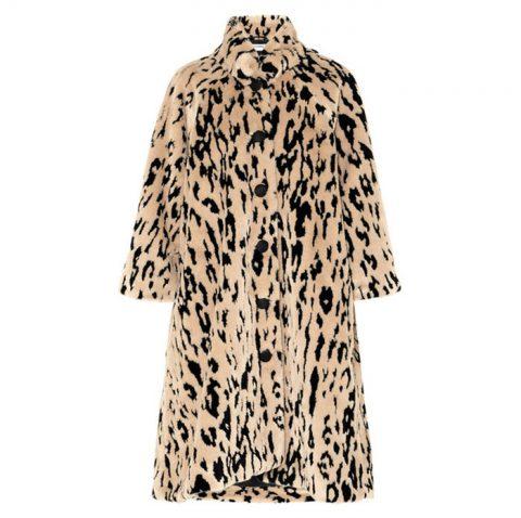 멋스러운 패턴의 오버사이즈드 페이크 퍼 코트는 가격미정으로 Balenciaga