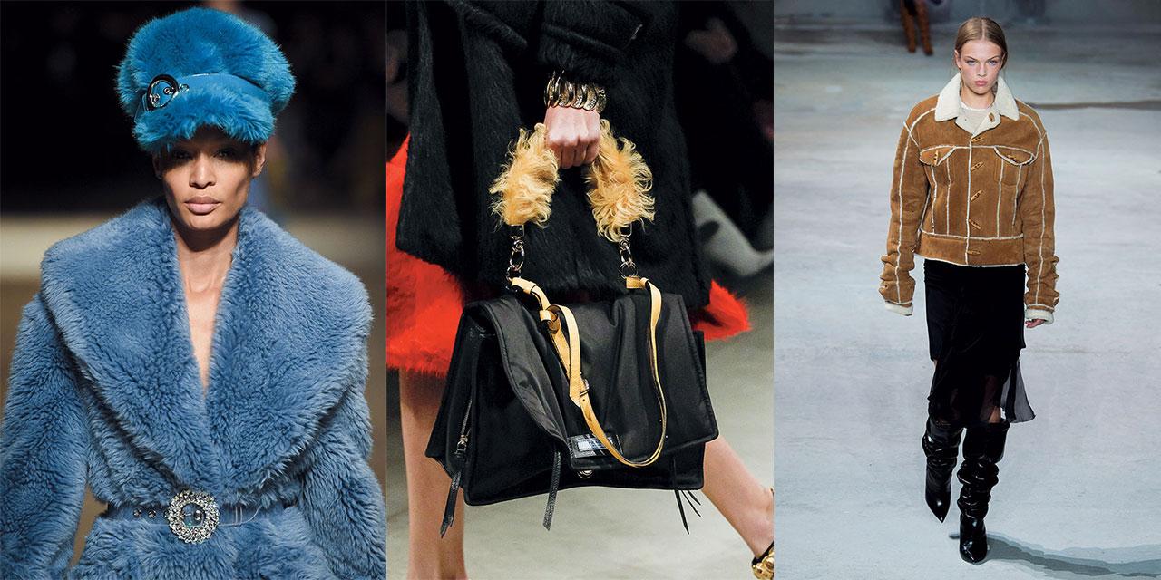귀여운 디자인, 포근한 착용감, 달콤한 컬러로 유혹하는 시어링 제품에 주목할 것.