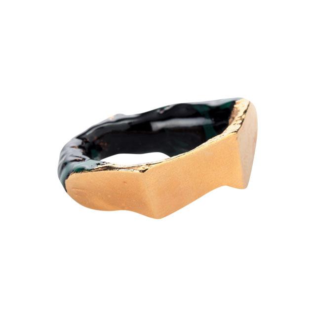 자연스러운 형태가 매력적인 반지는 20만원대로 Acne Studios by mytheresa.com