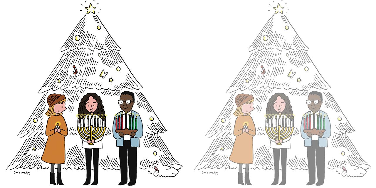 꼭 크리스마스만 크리스마스인 건 아니다. 백인들의 크리스마스와 유대인들의 하누카와 흑인들의 콴자에 대한 짧은 단상.