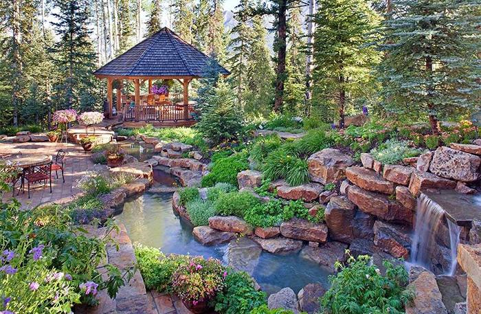 야외 정원.