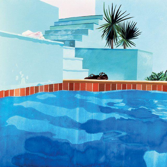 데이비드 호크니 'Pool and Steps, Le Nid du Duc', 1971