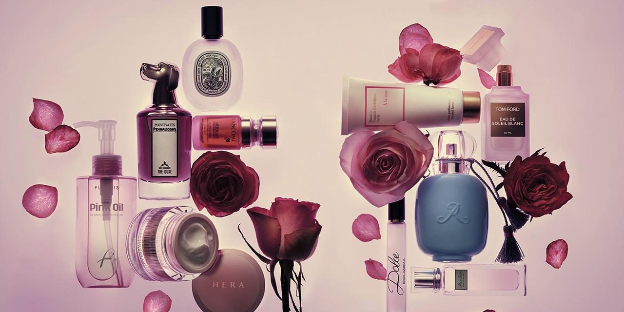 밸런타인데이에 장미만큼 잘 어울리는 꽃이 있을까? 로맨틱하고 우아한 향도 향이지만, 장미 성분은 우리 피부와 헤어도 한 떨기 꽃잎처럼 아름답게 가꿔준다. 맡아도, 발라도 좋은 로즈 퍼레이드.