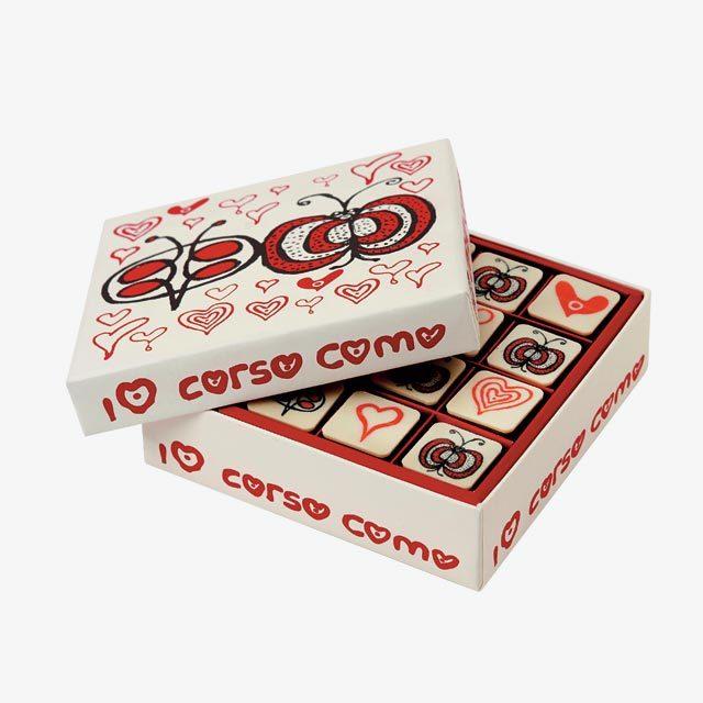 아티스트 크리스 루스의 일러스트 박스 안에 담긴 초콜릿은 5만3천원으로 10 Corso Como