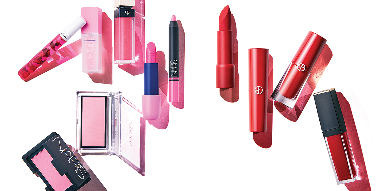 이번 시즌, 수많은 뷰티 브랜드를 사로잡은 컬러가 있다. 언제나 사랑스러운 핑크, 컬러 하나만으로도 힘을 가지는 레드가 그 주인공.