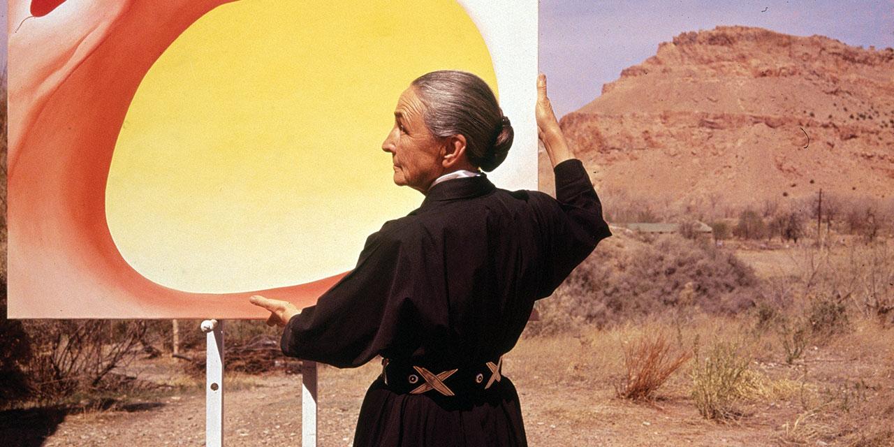 뉴멕시코에서 조지아 오키프(Georgia O'Keeffe)의 삶은 그 자체로  오키프 예술의 두드러진 특징 중 하나인 미니멀리즘의 구현이었다.