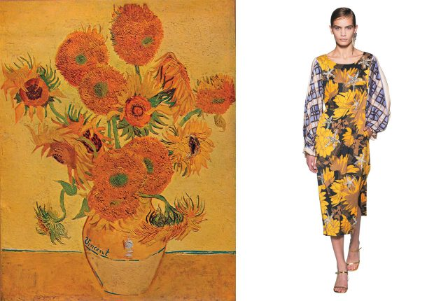 'Sunflowers'(1888) /  Dries Van Noten