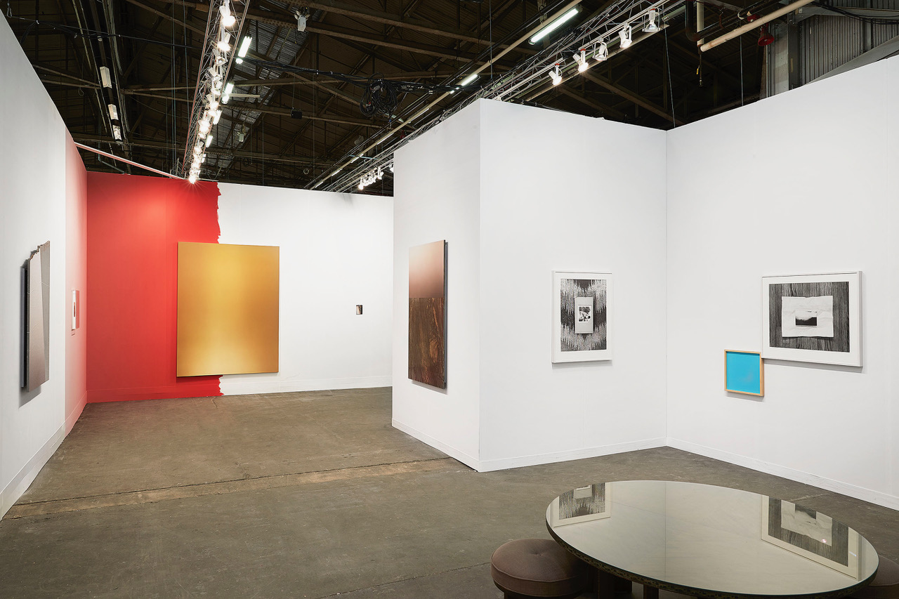Installation view: Armory Show, Leslie Hewitt & Peiter Vermeersh, 2018 Courtesy of Perrotin Photo: Guillaume Ziccarelli