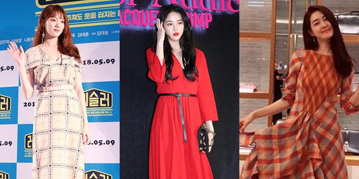 여자들의 로망! 시폰 드레스를 선택한 스타들의 같은 옷 다른 느낌.
