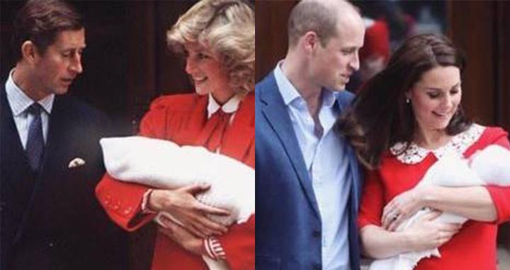 셋째 왕자를 출산한 케이트 미들턴의 빨간 드레스가 화제다.