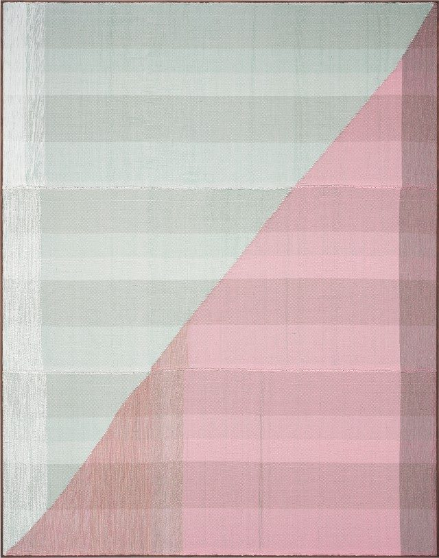 'Untitled', 2017, Painting Hand woven fibers, wool, cotton and acrylic on canvas,275×215cm, Courtesy of the artist, PKM Gallery and Peres Projects