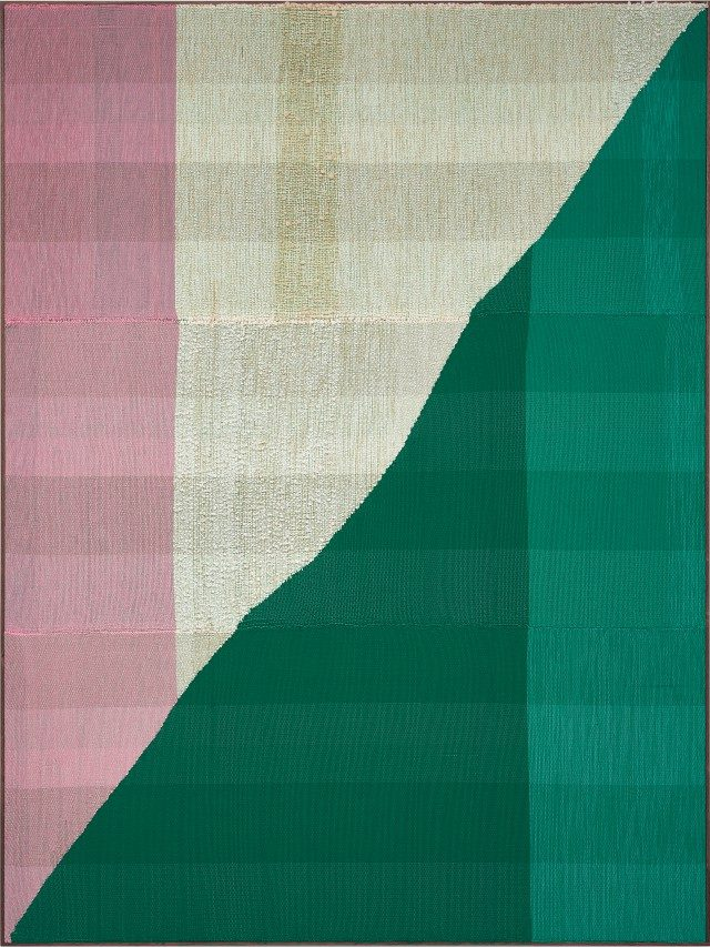 'Untitled', 2017 Painting Hand woven fibers, wool, cotton and acrylic on canvas,275×205cm, Courtesy of the artist, PKM Gallery and Peres Projects
