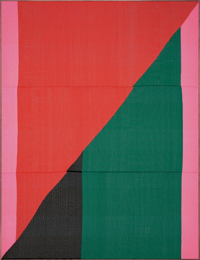 'Untitled', 2017, Painting Hand woven fibers, wool, cotton and acrylic on canvas,275×210cm, Courtesy of the artist, PKM Gallery and Peres Projects