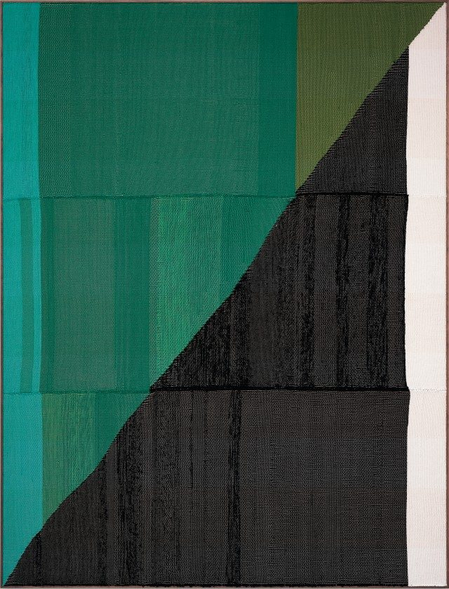 'Untitled', 2017, Painting Hand woven fibers, wool, cotton and acrylic on canvas,277×210cm, Courtesy of the artist, PKM Gallery and Peres Projects