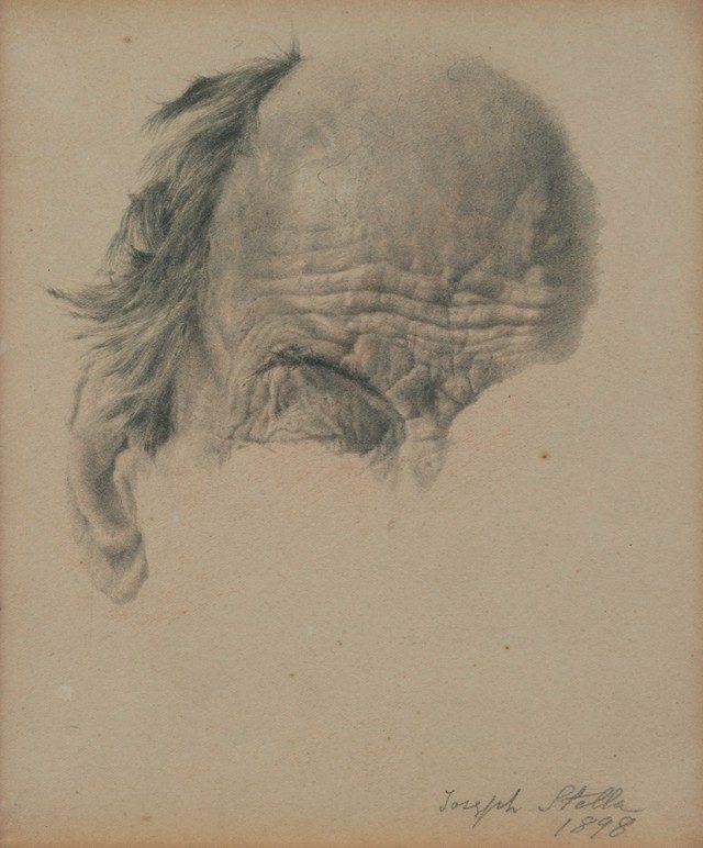 조지프 스텔라(Joseph Stella)의 인체 드로잉(1898).