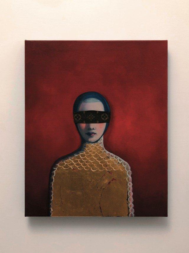 앤 플레상스(Anne Plaisance)의 '학대받도록 태어난'(2017).