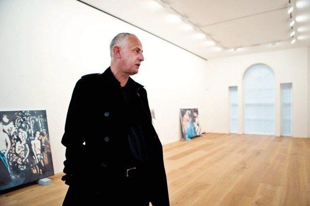 런던 갤러리에서 열린 'Luc Tuymans: Allo!'에서뤽 투이만(Luc Tuymans), 2012.